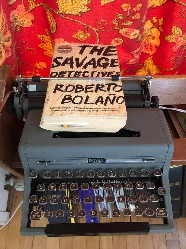 savage typewriter bolano